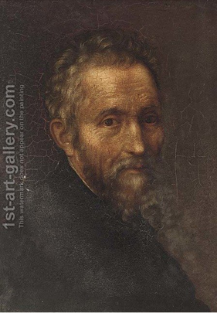 Portrait of a gentleman, bust-length by (after) Jacopo Tintoretto (Robusti) - Reproduction Oil Painting