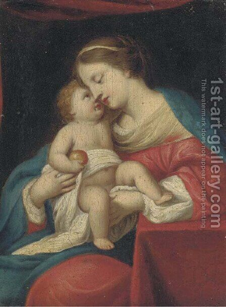 The Madonna and Child by (after) Jacques Stella - Reproduction Oil Painting