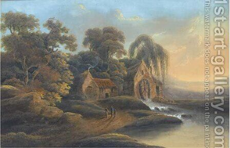A mill near Waterford by (after) James Arthur O'Connor - Reproduction Oil Painting