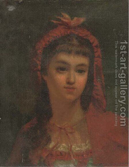 Little red riding hood by (after) James Sant - Reproduction Oil Painting