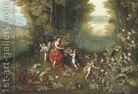 An Allegory of Earth 3 by (after) Jan, The Younger Brueghel - Reproduction Oil Painting