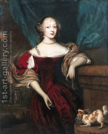Portrait of a lady by (after) Jan De Baen - Reproduction Oil Painting