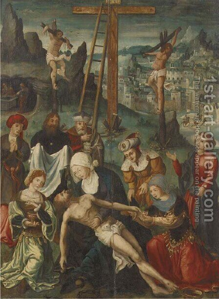 The Lamentation by (after) Jan De Beer - Reproduction Oil Painting