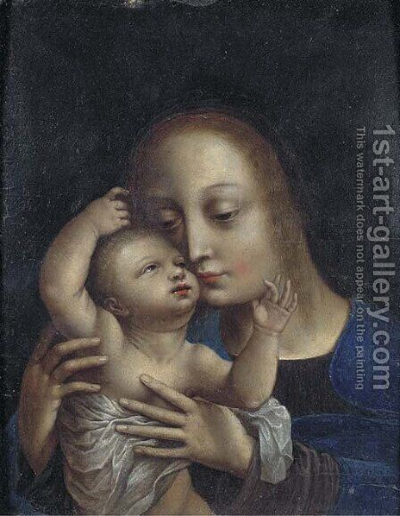 The Virgin and Child 3 by (after) Jan (Mabuse) Gossaert - Reproduction Oil Painting