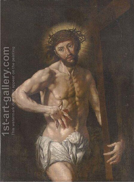 Christ the Redeemer by (after) Jan (Mabuse) Gossaert - Reproduction Oil Painting