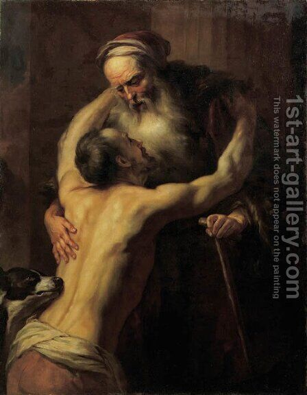 The Return of the Prodigal Son by (after) Jan Lievens - Reproduction Oil Painting