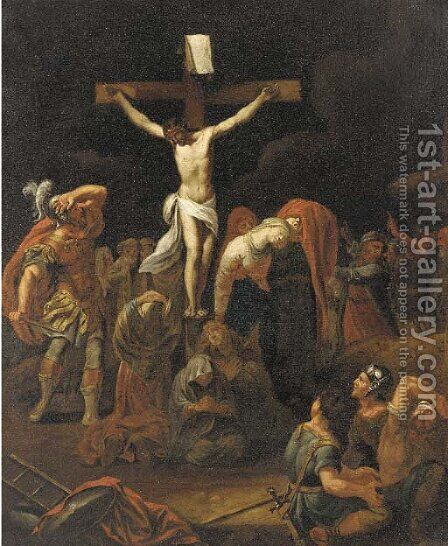 The Crucifixion by (after) Jan Tegnagel - Reproduction Oil Painting