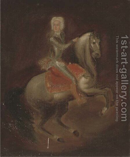 Portrait of a gentleman on horseback by (after) Jan Van, The Younger Kessel - Reproduction Oil Painting