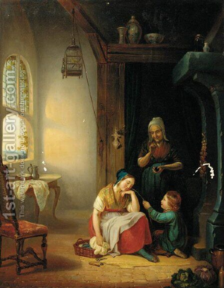 Family by (after) Jan Victors - Reproduction Oil Painting