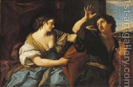Joseph and Potiphar's wife by (after) Jan Von Lis, Called Pan - Reproduction Oil Painting