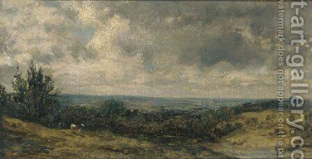 Hampstead Heath 2 by (after) Constable, John - Reproduction Oil Painting