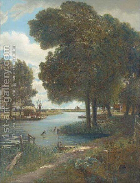 The ferry by (after) Constable, John - Reproduction Oil Painting