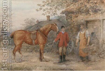 A missing shoe by (after) John Frederick Jnr Herring - Reproduction Oil Painting