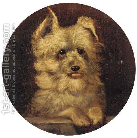 Grip, a terrier by (after) John Frederick Jnr Herring - Reproduction Oil Painting