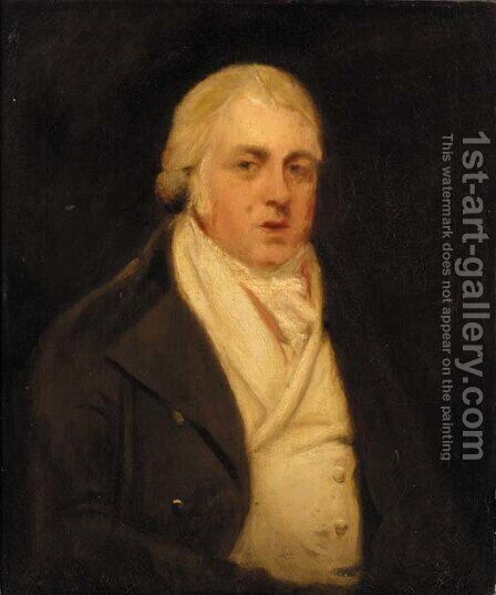 Portrait of Sir John Duntze by (after) John Opie - Reproduction Oil Painting