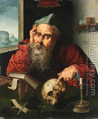Saint Jerome in his Study 3 by (after) Cleve, Joos van - Reproduction Oil Painting