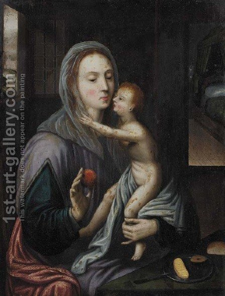 The Madonna and Child by (after) Cleve, Joos van - Reproduction Oil Painting