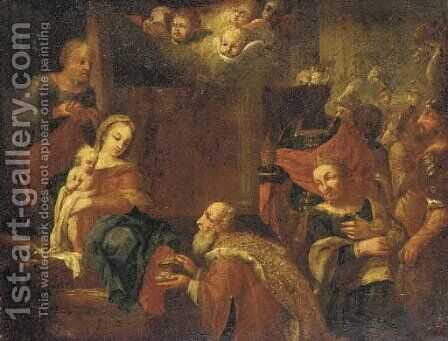 The Adoration of the Magi 2 by (after) Joseph The Elder Heintz - Reproduction Oil Painting