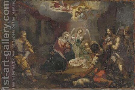 The Adoration of the Shepherds by (after) Joseph Heinz - Reproduction Oil Painting