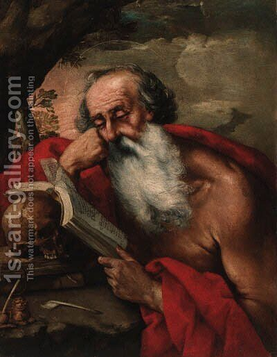 Saint Jerome by (after) Juan De Valdes Leal - Reproduction Oil Painting