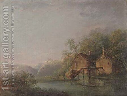 The old mill by (after) Julius Caesar Ibbetson - Reproduction Oil Painting