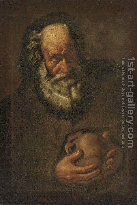 A hermit saint by (after) Jusepe De Ribera - Reproduction Oil Painting