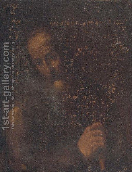 A male saint by (after) Jusepe De Ribera - Reproduction Oil Painting