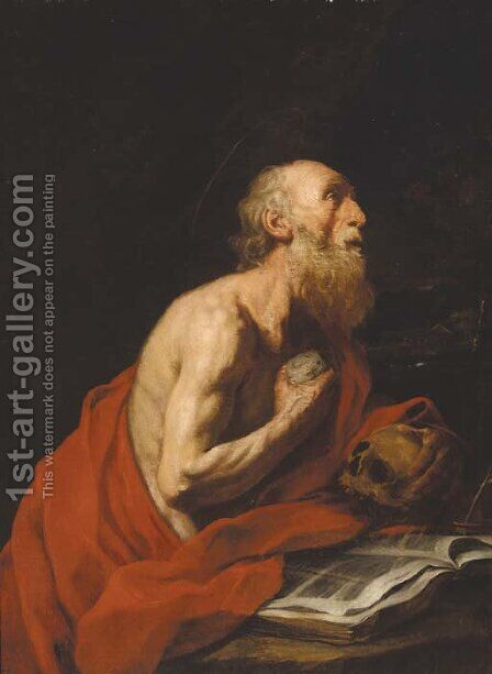 Saint Jerome by (after) Jusepe De Ribera - Reproduction Oil Painting