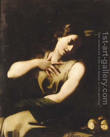 The penitent Magdalene by (after) Jusepe De Ribera - Reproduction Oil Painting