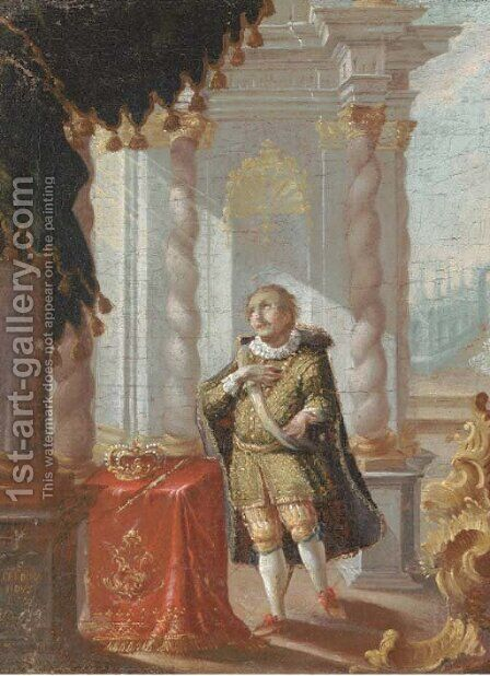 Saint Ferdinand of Castile by (after) Karel Skreta - Reproduction Oil Painting
