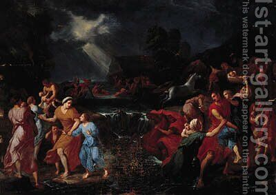 The Deluge by (after) Kaspar Jakob Van Opstal - Reproduction Oil Painting