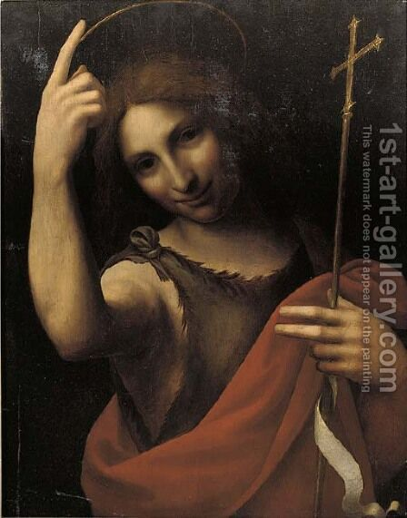Saint John the Baptist by (after) Leonardo Da Vinci - Reproduction Oil Painting