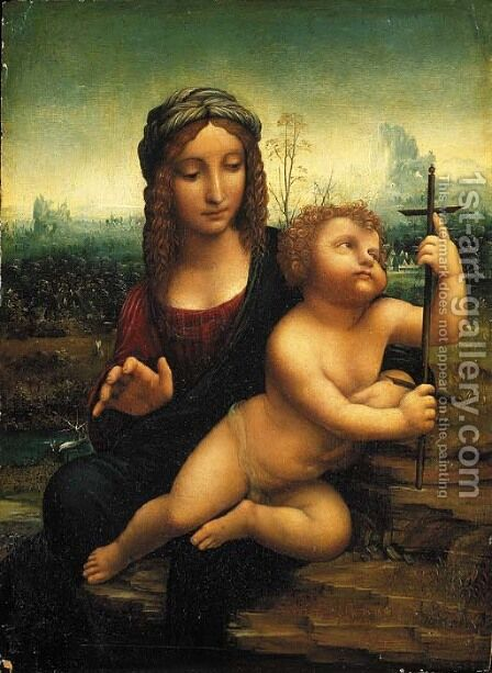 The Madonna of the Yarnwinder by (after) Leonardo Da Vinci - Reproduction Oil Painting