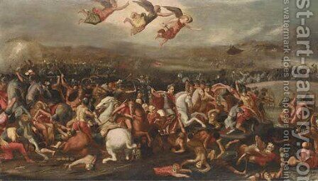 The Battle of the Milvian Bridge by (after) Louis De Caullery - Reproduction Oil Painting