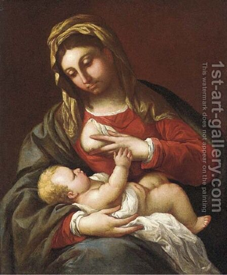 The Madonna and Child by (after) Luca Giordano - Reproduction Oil Painting