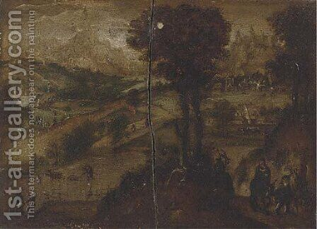 The Flight into Egypt by (after) Lucas Van Valckenborch - Reproduction Oil Painting