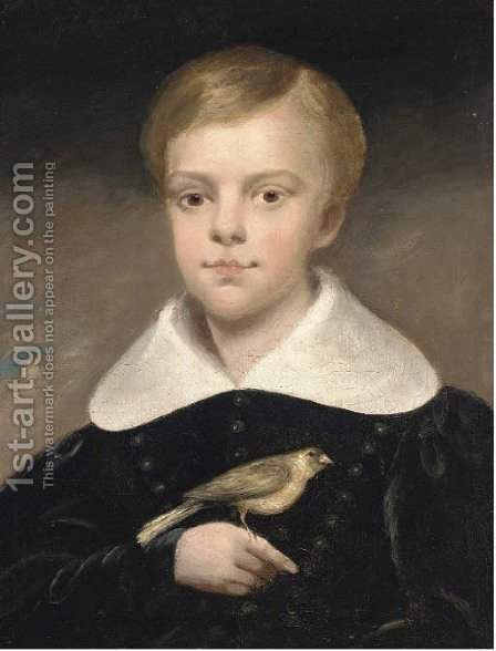 Portrait of a boy by (after) Margaret Sarah Carpenter - Reproduction Oil Painting