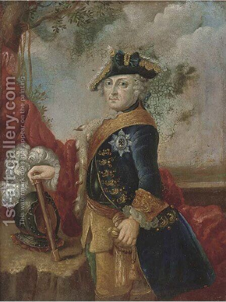 Portrait of an officer by (after) Martin II Mytens Or Meytens - Reproduction Oil Painting