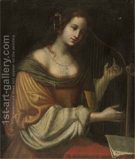 Saint Cecilia by (after) Matteo Rosselli - Reproduction Oil Painting