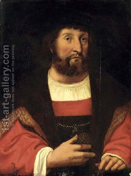 Portrait of Christian II (1481-1559) by (after) Michel Sittow - Reproduction Oil Painting