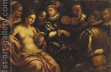 A musical gathering by (after) Michelangelo Merisi Da Caravaggio - Reproduction Oil Painting