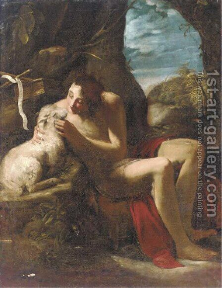 Saint John the Baptist by (after) Michele Desubleo - Reproduction Oil Painting