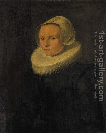 Portrait of a woman by (after) Nicolaes (Pickenoy) Eliasz - Reproduction Oil Painting