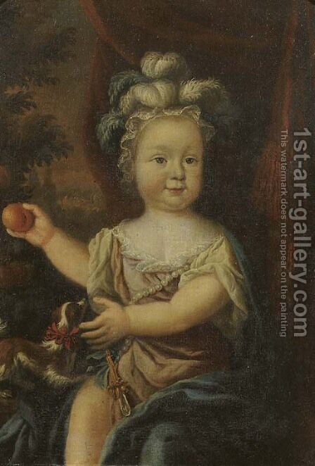 Portrait of a young girl by (after) Nicolaes Maes - Reproduction Oil Painting