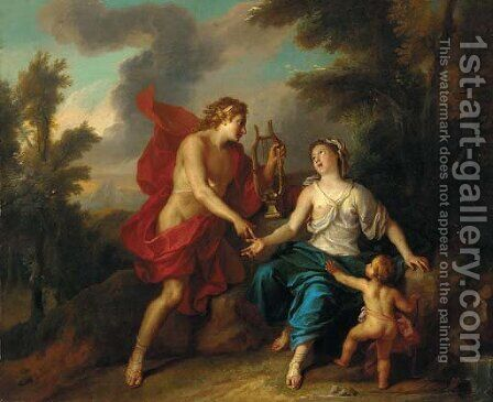Apollo and the Cumaean Sibyl 2 by (after) Noel-Nicolas Coypel - Reproduction Oil Painting