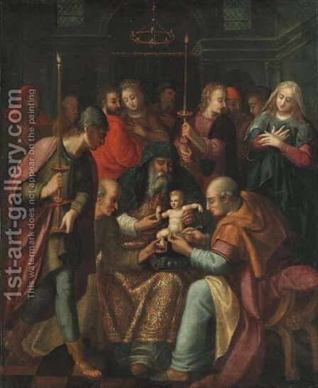 The Circumcision by (after) Otto Van Veen - Reproduction Oil Painting