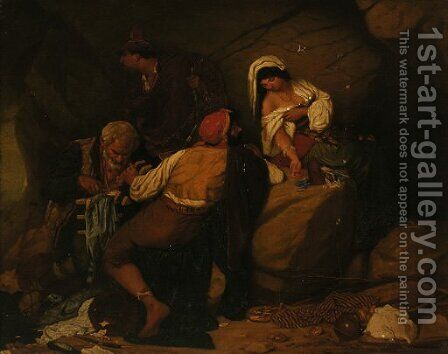 The Treasure Chest by (after) Pal Bohm - Reproduction Oil Painting
