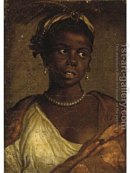 Portrait of a Moorish woman by (after) Paolo Veronese (Caliari) - Reproduction Oil Painting