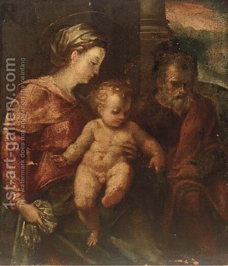 The Holy family by (after) Paolo Veronese (Caliari) - Reproduction Oil Painting