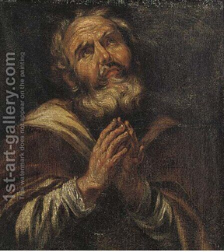 A male Saint by (after) Paulus Van Somer - Reproduction Oil Painting